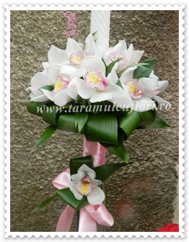 Lumanari de nunta din orhidee cymbidium.4073